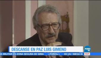 Fallece el actor Luis Gimeno a los 90 años
