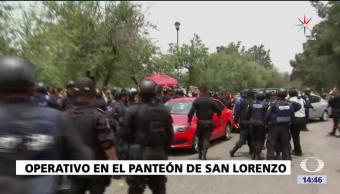 Operativo Panteon San Lorenzo Realizan Policias Ciudad Mexico