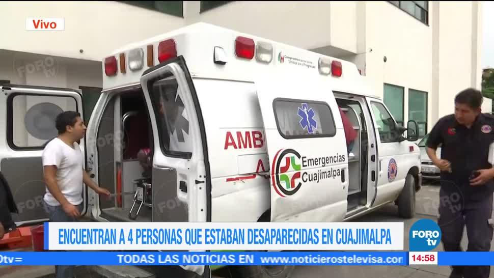 Autoridades Capitalinas Hallan Desaparecidas Cuajimalpa