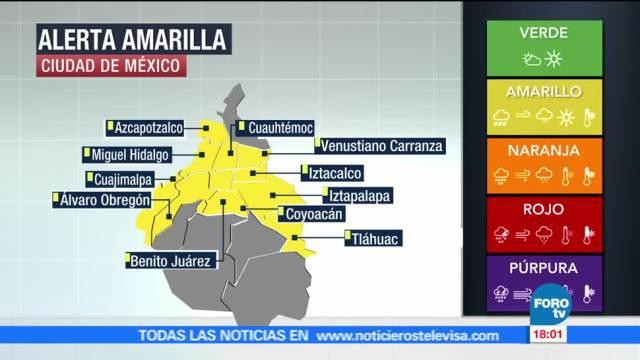 Activa Alerta Amarilla Delegaciones Lluvia Cdmx