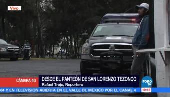 Entierran Ojos Panteon Iztapalapa Restos Felipe De Jesus Perez Luna San Lorenzo Tezonco