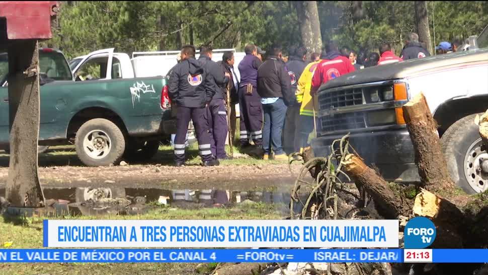 Forotv Noticias Encuentran Tres, Personas Extraviadas Cuajimalpa