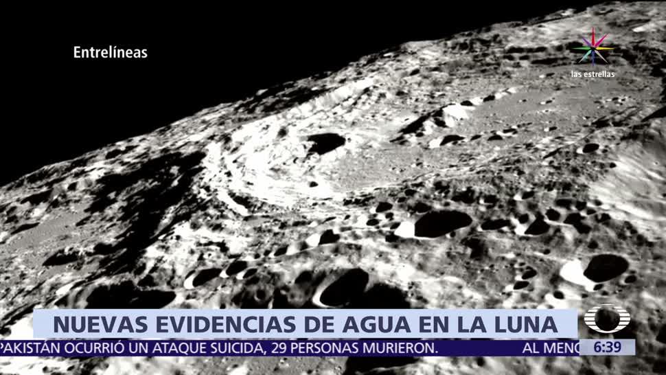 Científicos, encuentran, agua, Luna