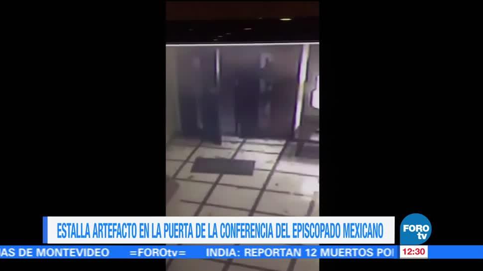 Investigan Explosión Sede Episcopado Mexicano