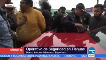 Detienen, hombres, operativo, Tláhuac