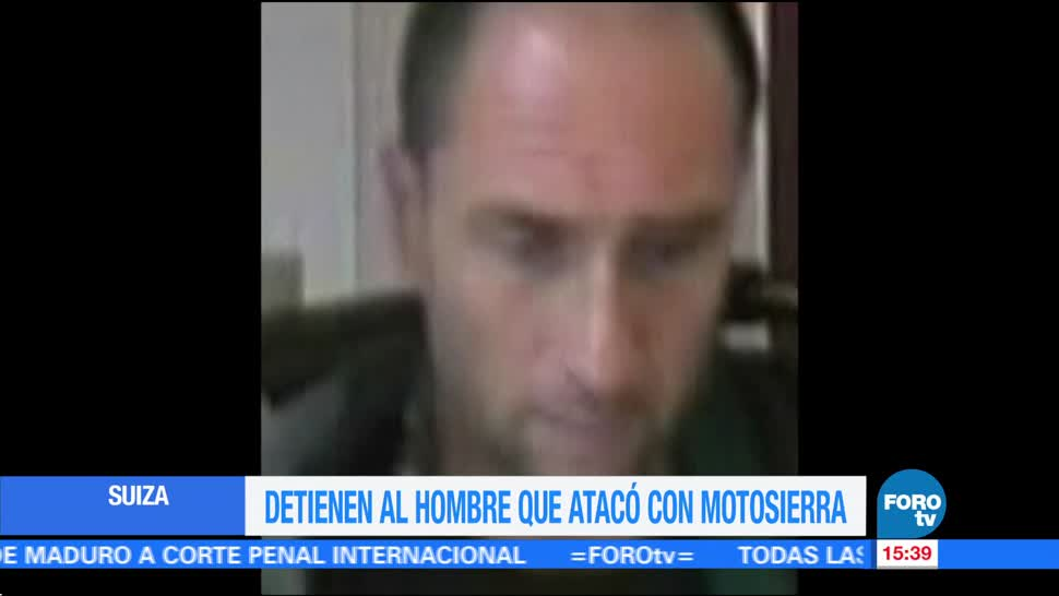 Detienen Hombre Suiza Policia Arresto Motosierra