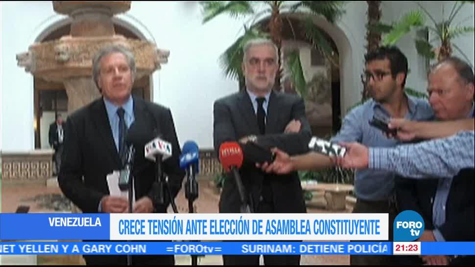 Noticias Tension Asamblea Constituyente Venezuela Televisa