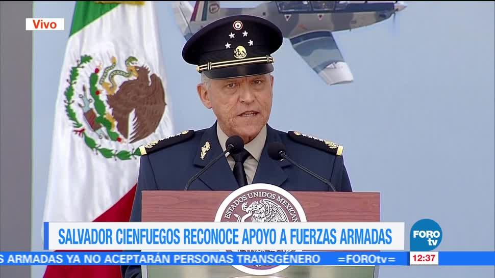Salvador Cienfuegos, compromiso, fuerzas armadas, inseguridad