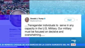Trump Personas Transgénero Fuerzas Armadas