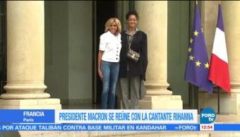 Rihanna, reunió, Emmanuel Macron, París