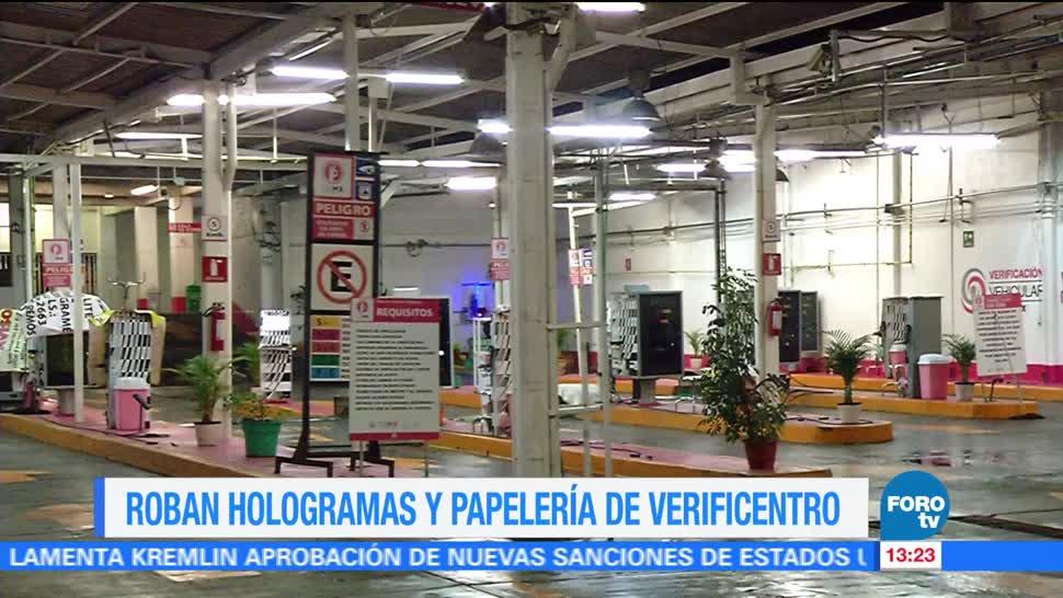 Televisa News Roban Hologramas Verificentro CDMX