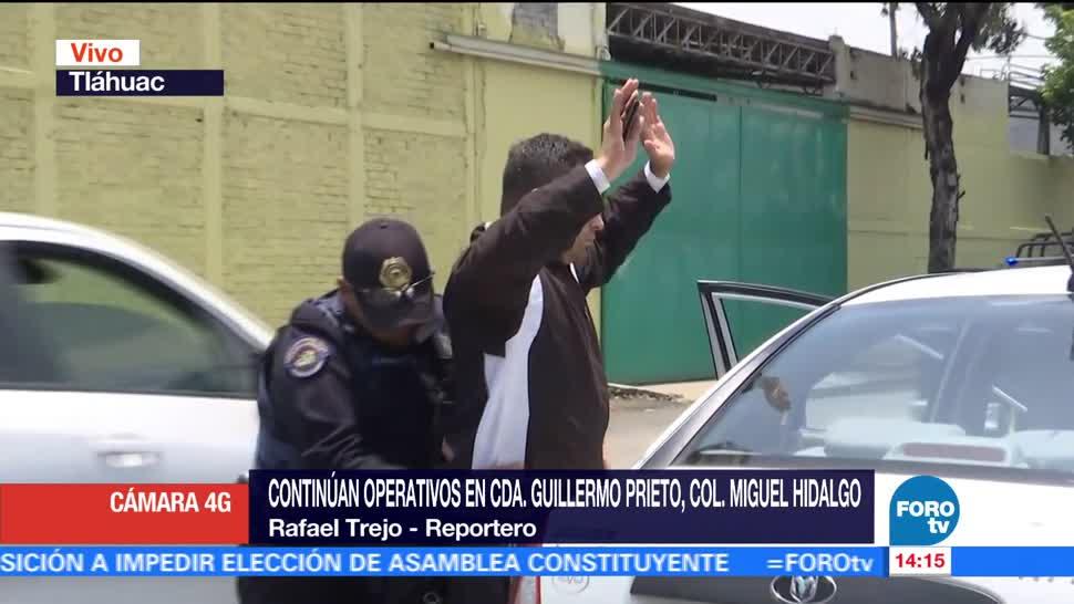 Televisa News Detienen Presunto, PolicIa Tlahuac CDMX