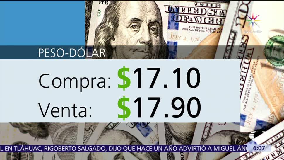 El, dólar, vende, 17.90