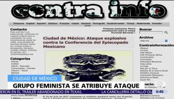 Grupo anarquista, adjudica, explosión, Episcopado Mexicano