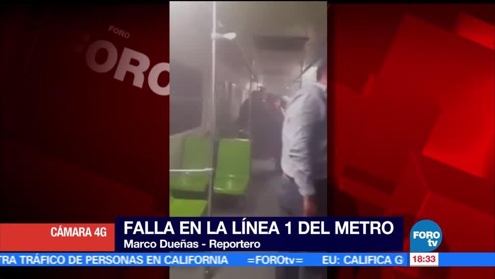 Falla eléctrica Línea 1 Metro CDMX