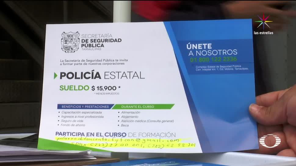 Tamaulipas busca policías entidades del país
