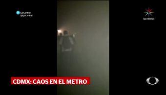 Caos en Metro por falla eléctrica