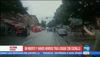 Ataque Cuchillo Supermercado Hamburgo Muerto Alamenia