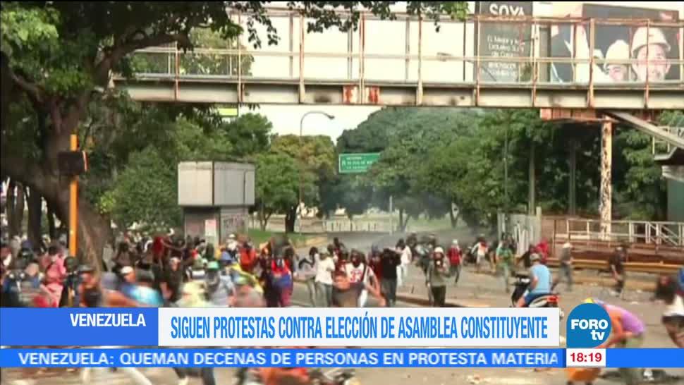 Siguen Manifestaciones Asamblea Constituyente Venezuela Calles caracas