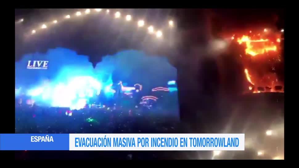 Escenario festival Tomorrowland incendia en Barcelona
