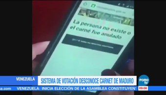 Sistema, desconoce, carnet, Maduro