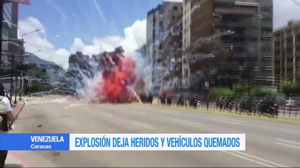 Explosion Varios Heridos Vehículos Quemados Venezuela