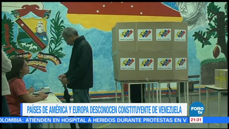 Países América Europa desconocen Constituyente Venezuela