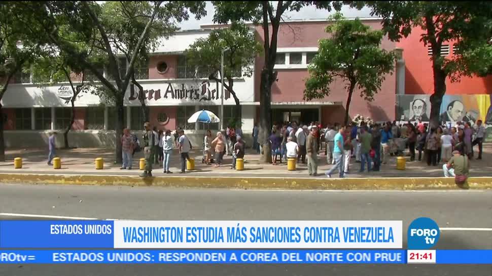 Estados Unidos estudia sanciones contra Venezuela