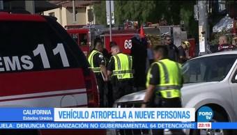 Camioneta arrolla peatones en Los Ángeles