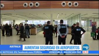 Aumentan seguridad en aeropuertos de Australia
