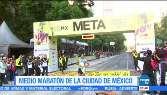Realizan Medio Maratón Ciudad de México