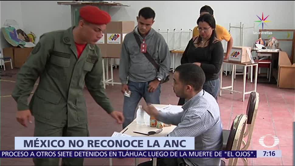 México, no reconoce, resultado,referendum, Asamblea Constituyente