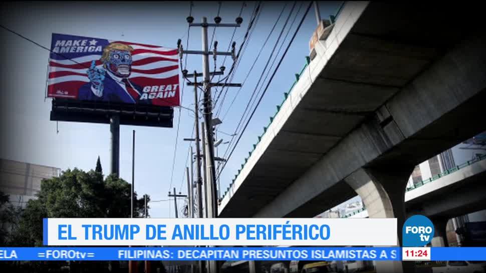 Caricatura Donald Trump Anillo periférico Sofía Escobosa