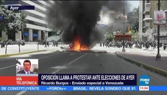 Tensión, opositores, chavistas, votación