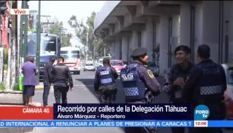 Siguen, operativos, delegación, Tláhuac