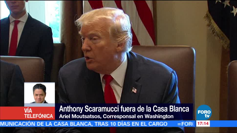 Servicio Secreto Scaramucci Ariel Moutsatsos Puerta Trasera Casa Blanca Jefe De Comunicaciones Anthony Scaramucc