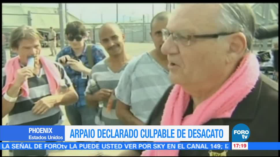 Declaran Culpable Desacato Joe Arpaio Exsheriff De Arizona Detener Inmigrantes