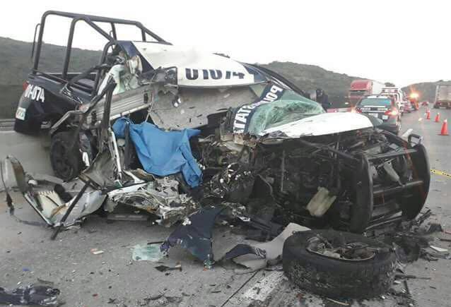 muere accidente carretero delegado policia hidalgo