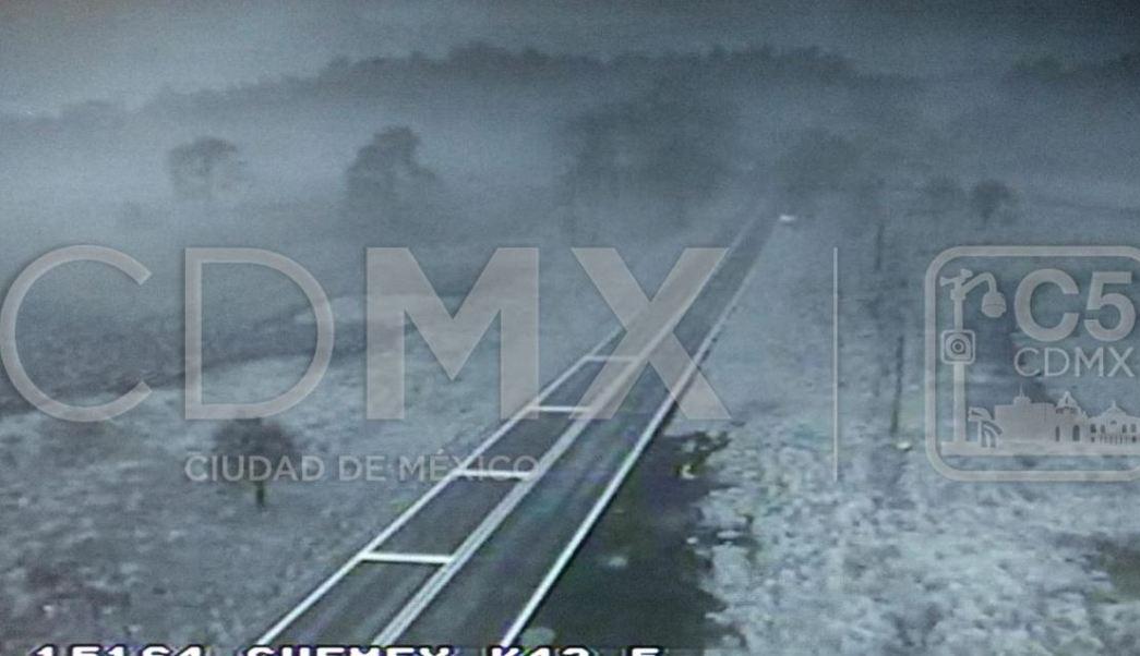 alertan de banco de niebla en la mexico toluca