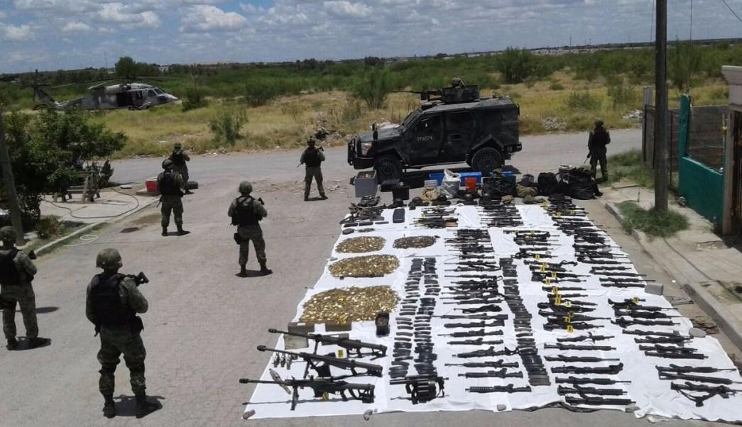 Elementos del ej rcito mexicano aseguran un arsenal en - El clima en laredo texas ...