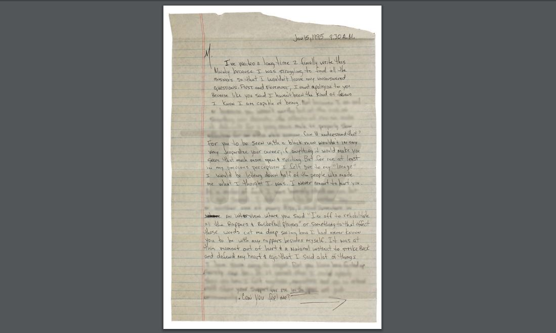 Cartas del rapero Tupac a Madonna