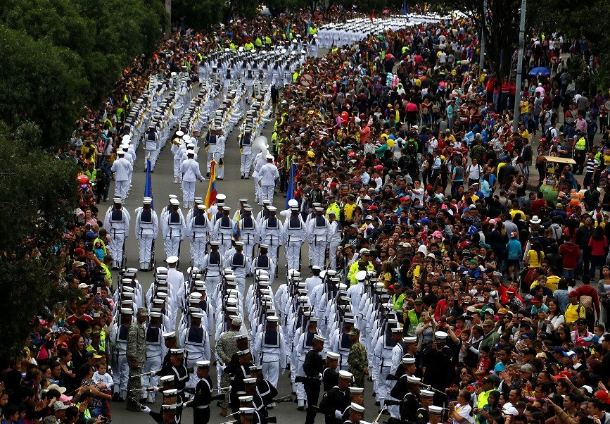 Independencia, Colombia, paz, FARC, guerrilla, desfile