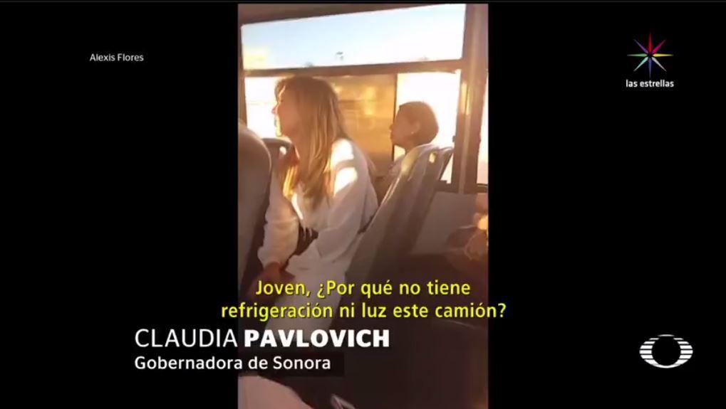 Claudia Pavlovich, gobernadora, Sonora, aire acondicionado, luces, ley, clima