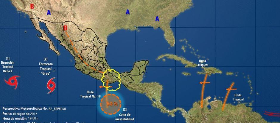 Sistemas Tropicales, Lluvias, Pacifico Mexicano, Colima, Clima, Noticias