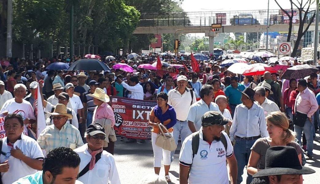 Oaxaca, CNTE, Normalistas, Bloqueos, Maestros, Manifestaciones