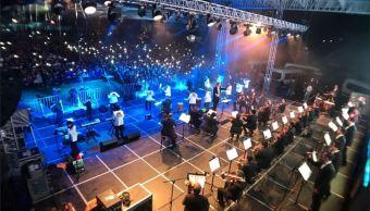 Los angeles azules dan un concierto en Tequexquitla