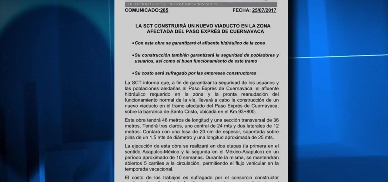 Construiran Paso Express Nueva Obra Zona Afectada