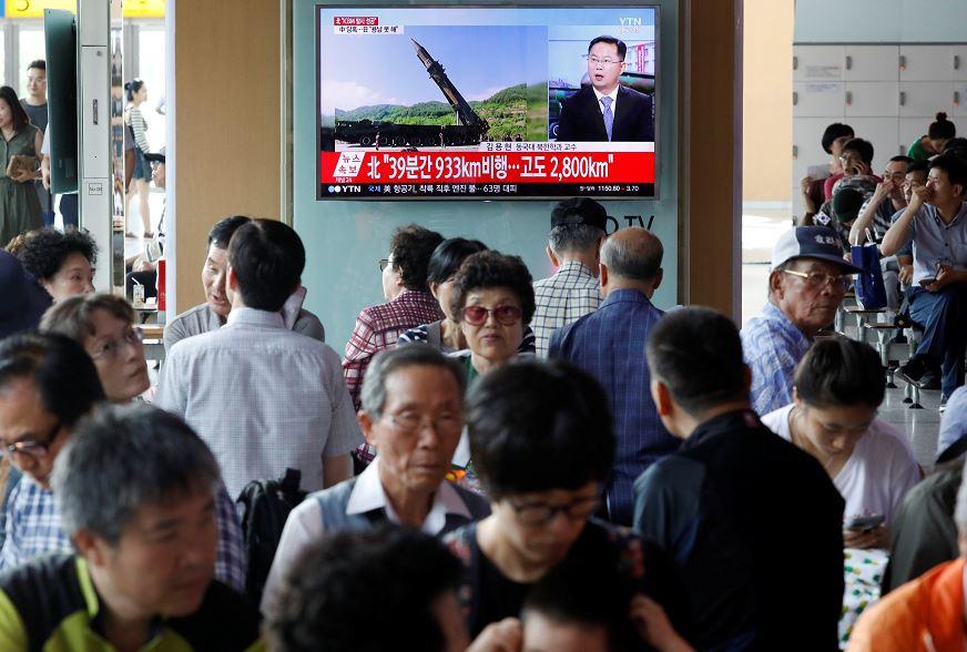 Corea del Norte, misil, intercontinental, balístico, Kim Jong, seguridad, televisión