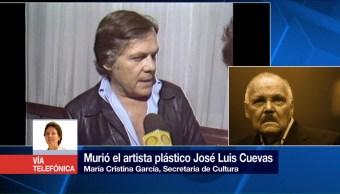 La secretaria de Cultura, tendrá el homenaje, José Luis Cuevas