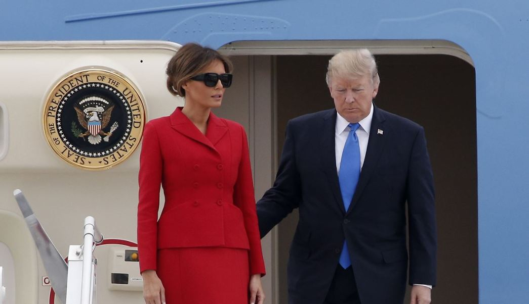 Donald Trump, Melania, París, Francia, Bastilla, Emmanuel Macron